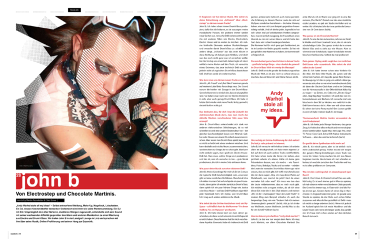 John B Resident Magazine Interview